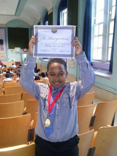 Grade 4 Spelling Bee Champion