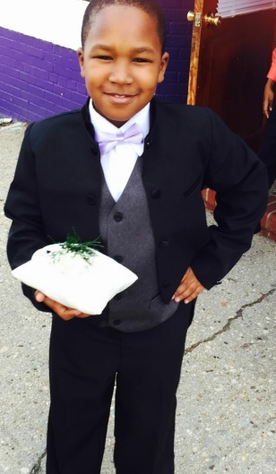 Ring Bearer at Aunty Kedetha and Uncle Lincoln's wedding